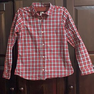 Girls Plaid Button Down Shirt
